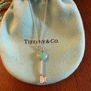 Heart Key Pendant with Chain.